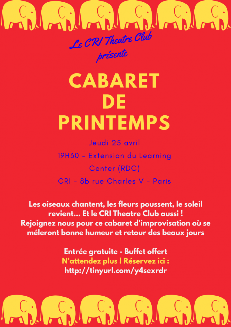 Cabaret de Printemps - CRI Theatre Club