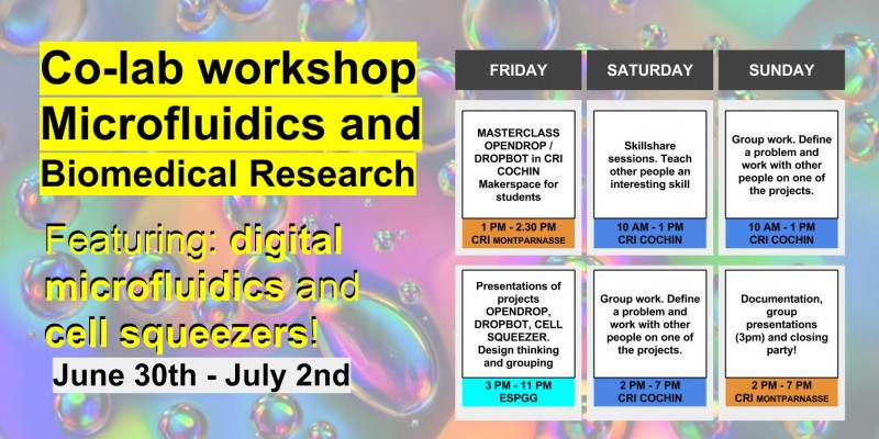 Co-lab workshop : Microfluidics & biomedical research