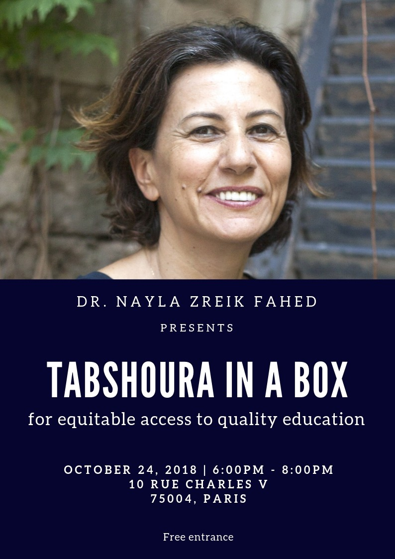 """Tabshoura in a box"" for equitable access to quality education"