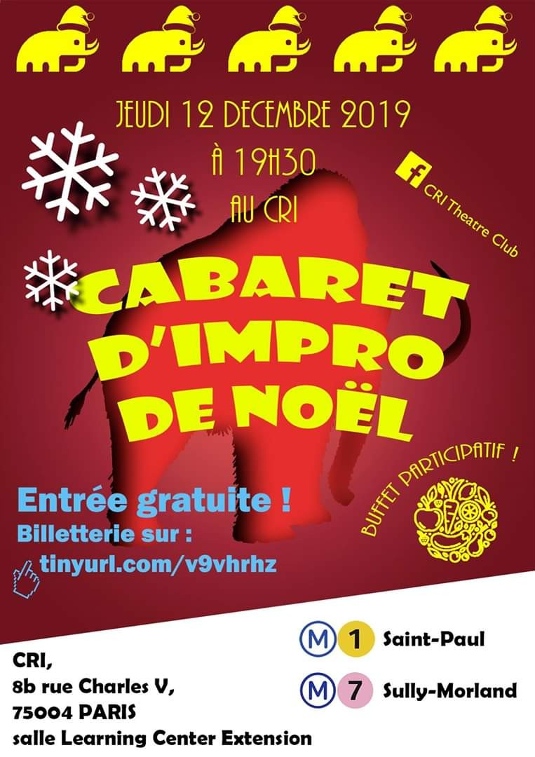 Cabaret de Noël - Christmas Cabaret by CRI Theatre Club